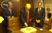 100 days and a slice of cake for Trump