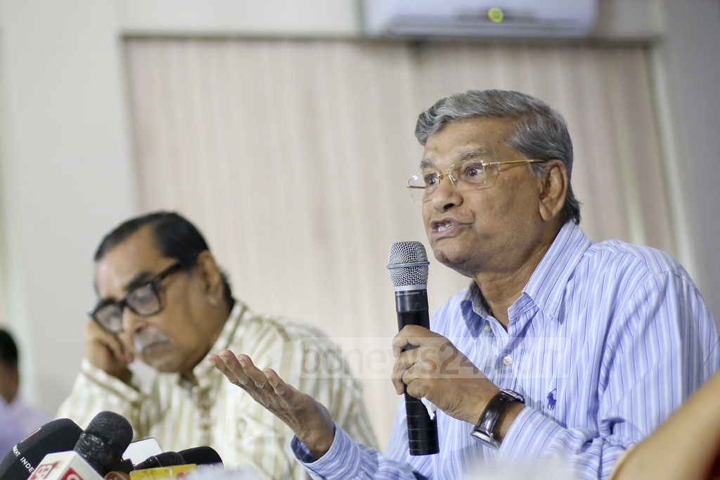 State Minister of Finance MA Mannan speaks at a pre-budget discussion organised by Aviation and Tourism Journalists Forum of Bangladesh at a hotel in Dhaka's Mohakhali on Wednesday. Photo: asaduzzaman pramanik