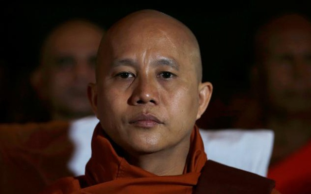 FILE PHOTO - Buddhist monk Ashin Wirathu looks on as he attends a convention held by the Bodu Bala Sena (Buddhist Power Force, BBS) in Colombo September 28, 2014. Reuters