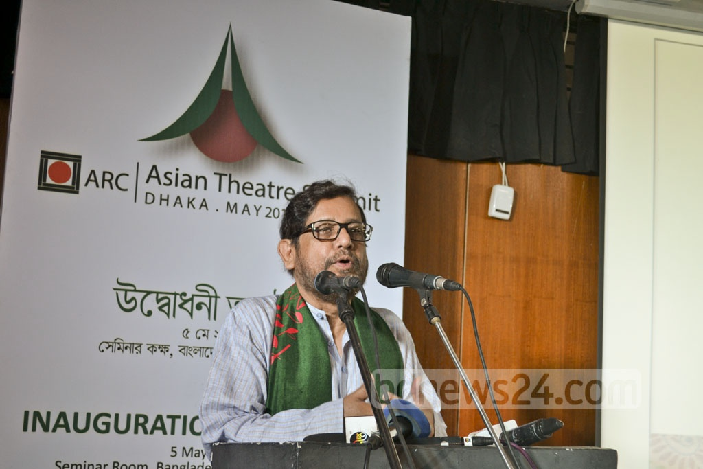 Cultural Affairs Minister Asaduzzaman Noor inaugurates the two-day Asian Theatre Summit on Friday.