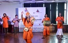 Baul singers take to the stage at the opening day of Asian Theatre Summit on Friday.