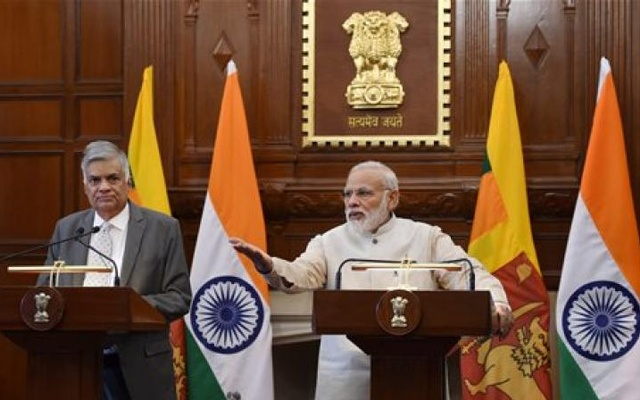 Sri Lankan President Ranil Wickremesinghe and Indian Prime Minister Narendra Modi. File photo