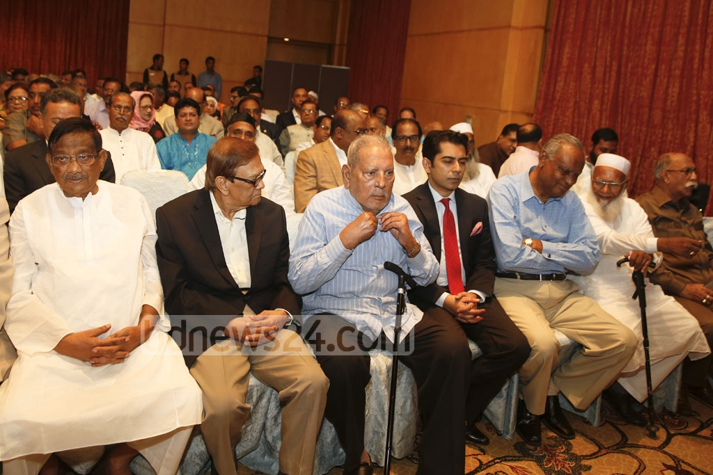 Leaders of the BNP's allies attend Khaleda Zia's press conference to unveil the party's Vision 2030 at the Westin hotel in Dhaka on Wednesday. Photo: mostafigur rahman