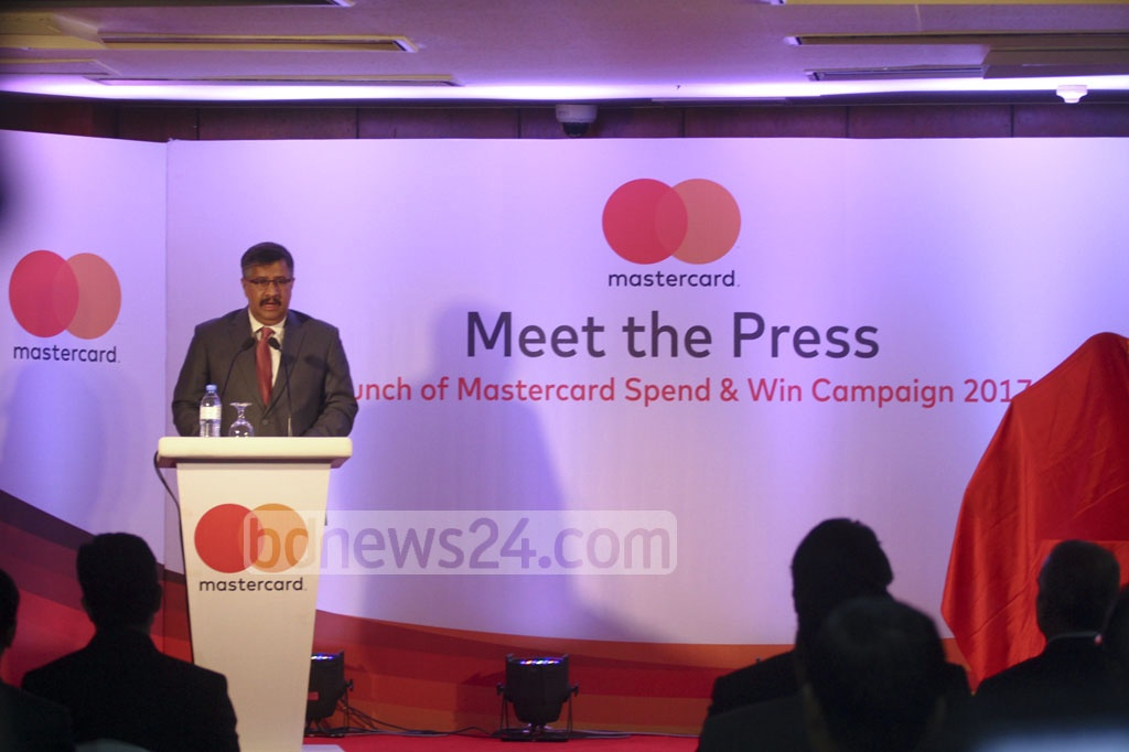 A campaign titled 'Experience Paris with MasterCard' is launched at Sonargaon Dhaka hotel on Monday. Photo: abdul mannan
