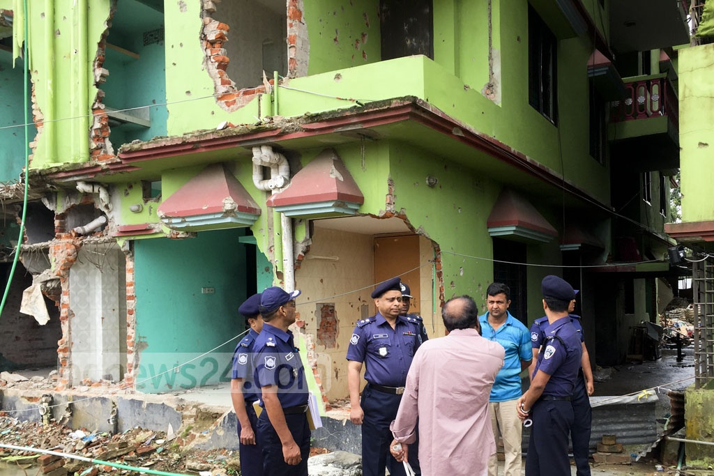 The Police Bureau of Investigation begins probing two cases Monday over blasts killing four suspects during a raid on Atia Mahal, a house militants were using as a hideout in Sylhet's Shibbarhi.