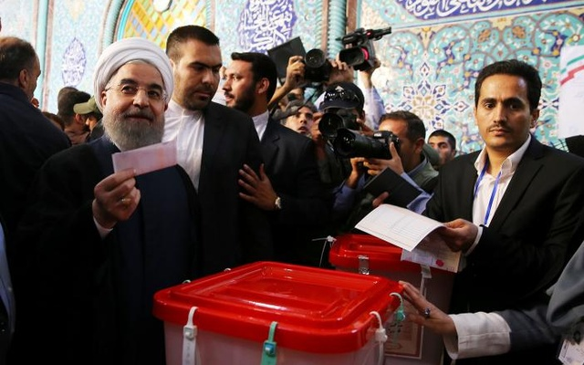 Results show Iran's Rouhani headed for re-election