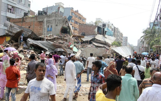 Dhaka North City Corporation evicted illegal structures to widen a street at Mirpur-11 in the capital on Sunday. Photo: asif mahmud ove