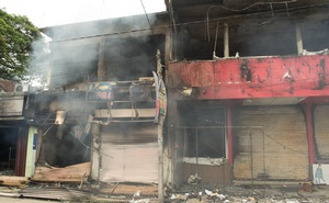 A burnt Muslim shop in Aruthgama.