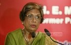 Former Sri Lankan President Chandrika Kumaratunga speaks at a seminar in Dhaka's BIIS Auditorium on Tuesday.