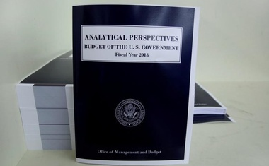 File photo - President Donald Trump's FY2018 budget is seen printed at the Government Publishing Office in Washington, US on May 19, 2017. Reuters