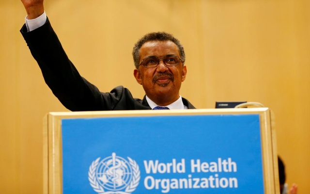 WHO Director Tedros Adhanom Ghebreyesus during his speech at WHO on May 23, 2017. Reuters