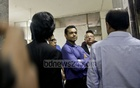 The Raintree Managing Director HM Adnan Haroon (in blue) appears at the office of National Human Rights Commission on Thursday to face questions about the alleged rape of two university girls in the Banani hotel. Photo: tanvir ahammed