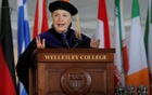 Former US Secretary of State Hillary Clinton delivers the Commencement Address at Wellesley College in Wellesley, Massachusetts, US, May 26, 2017. Reuters