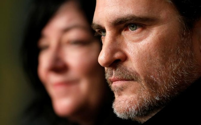 70th Cannes Film Festival - News Conference for the film 'You Were Never Really Here' in competition - Cannes, France. 27/05/2017. Director Lynne Ramsay and cast member Joaquin Phoenix attend. Reuters