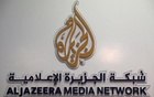 Caption: The logo of Al Jazeera Media Network that was blocked alongside with 21 websites to combat terrorism in Egypt. Reuters