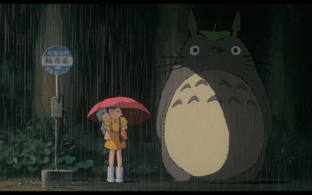 A still from the famous bus stop scene in 'My Neighbour Totoro'. Credit: Walt Disney Company