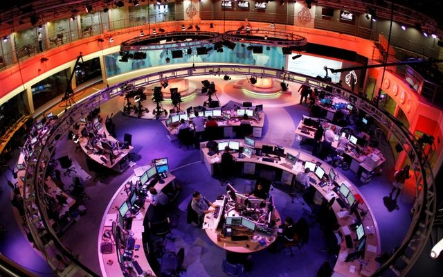 A general view shows the newsroom at the headquarters of the Qatar-based Al Jazeera English-language channel in Doha February 7, 2011. Reuters File Photo