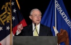 US Attorney General Jeff Sessions addresses the National Law Enforcement Conference on Human Exploitation in Atlanta, Georgia, US, Jun 6, 2017. Reuters