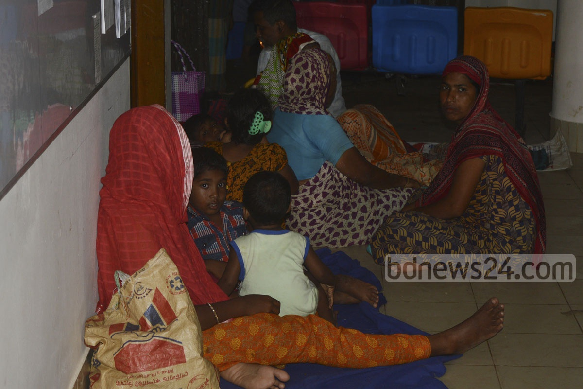Some landslide victims took shelter at the Open University building. The picture was taken on Friday.