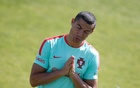 Portugal training session - 2017 Confederations Cup - Oeiras, Portugal - 14/06/17 - Portugal's national soccer team player Cristiano Ronaldo attends a training session. REUTERS