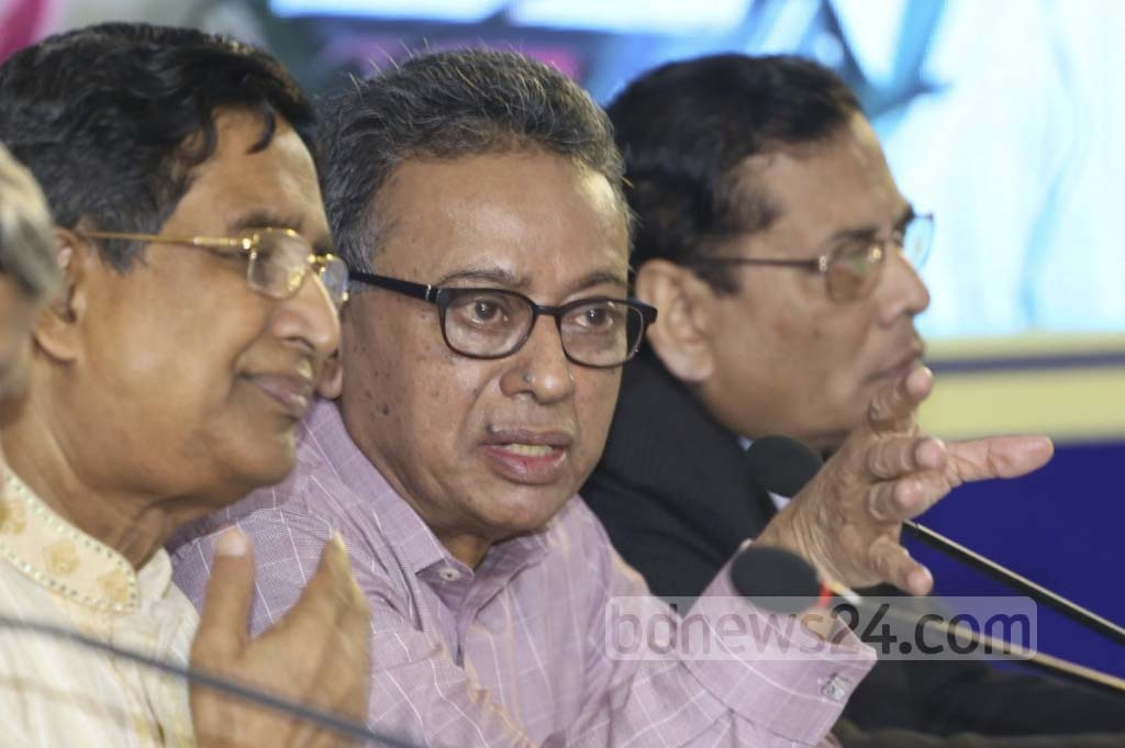 Former commerce minister and senior BNP leader Amir Khashru Mahmud Chowdhury at at the post-budget discussion by research body Centre for Policy Dialogue or CPD on Saturday at Dhaka's Lake Shore Hotel.