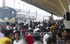 Train schedule jumbled up on the first day of Eid journey