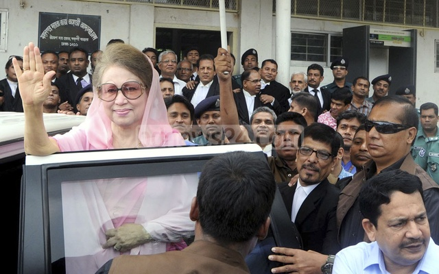 The BNP chief stands accused of embezzling Tk 31.5 million from the Zia Charitable Trust. File photo