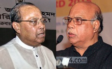 Combination photo shows BNP National Standing Committee member Moudud Ahmed (left) and Awami League Presidium member Mohammed Nasim.