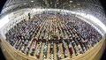 Muslims praying on the last Friday of Ramadan at the Baitul Mukarram National Mosque in Dhaka. Photo: asif mahmud ove