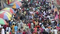 The New Market area in Dhaka draws a huge crowd of shoppers ahead of the Eid every year. The photo was taken on Friday. Photo: asif mahmud ove