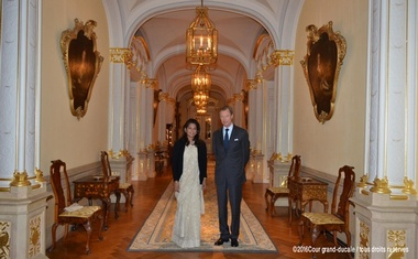 Nasreen Zamir had an audience with the Grand Duke of Luxembourg on Oct 18 last year. Photo: © 2016 Cour grand-ducale/tous droits reserves
