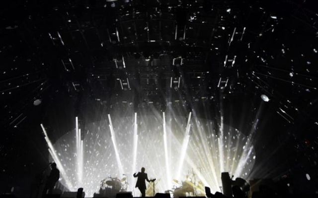 Radiohead performs on the Pyramid Stage at Worthy Farm in Somerset during the Glastonbury Festival in Britain, Jun 23, 2017. Reuters