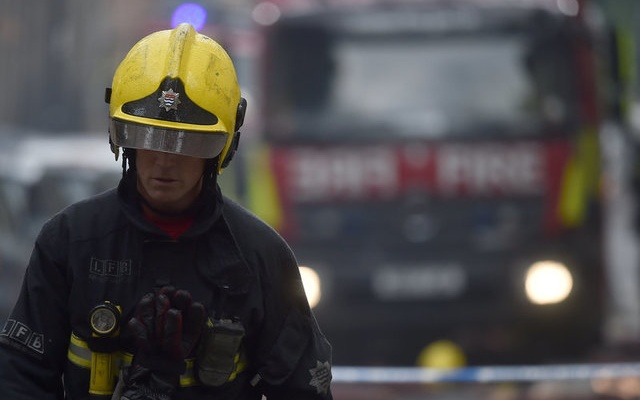 Fire engulfs another building in London