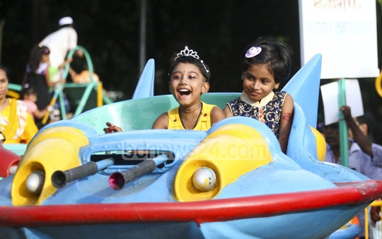 Children enjoy a ride at Shishu Park on Tuesday after the Eid. Photo: abdul mannan