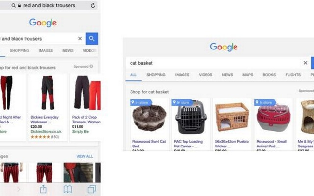 Screenshot of a Google search page
