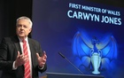 First Minister of Wales Carwyn Jones speaks before the UEFA Champions League draw of the semi-finals. Reuters