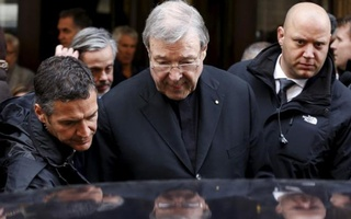 Australian Cardinal George Pell leaves at the end of a meeting with the victims of sex abuse, at the Quirinale hotel in Rome, Italy, March 3, 2016. Reuters