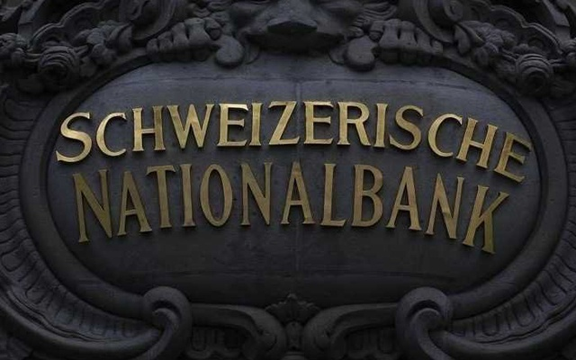 A Swiss National Bank logo is pictured on the SNB building in Bern. Reuters