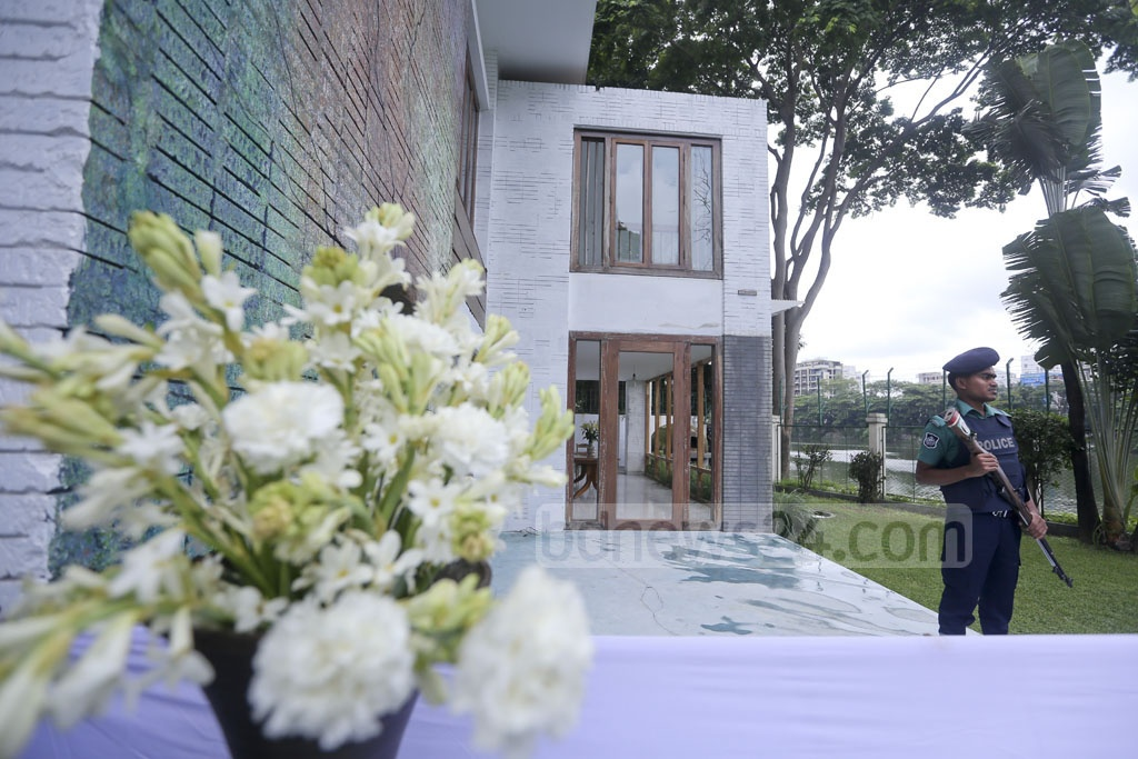 This building housed the Holey Artisan Bakery, where 22 people were killed in a terror attack a year ago. The site was opened for four hours for visitors on Saturday. Photo: asaduzzaman pramanik