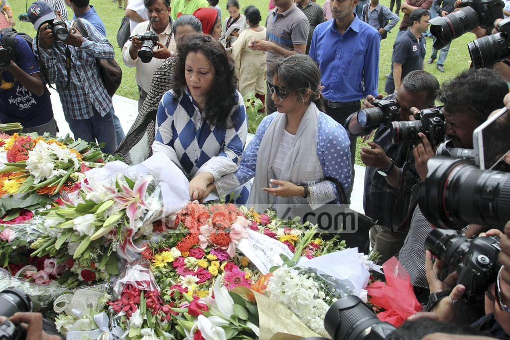 People from all walks of life came to Gulshan on Saturday to pay respect to the 22 people killed in the cafe attack a year ago. Photo: asif mahmud ove