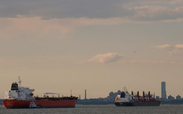 FILE PHOTO: Ships are seen in New York Harbor in New York City, U.S. June 27, 2017. Reuters