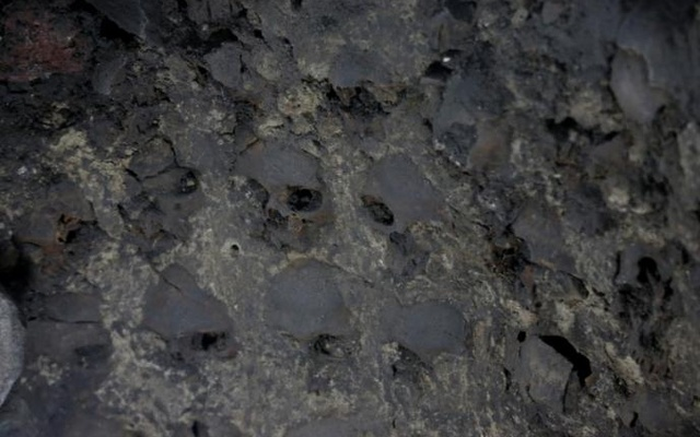 Skulls are seen at a site where more than 650 skulls caked in lime and thousands of fragments were found in the cylindrical edifice near Templo Mayor, one of the main temples in the Aztec capital Tenochtitlan, which later became Mexico City, Mexico Jun 30, 2017. Reuters