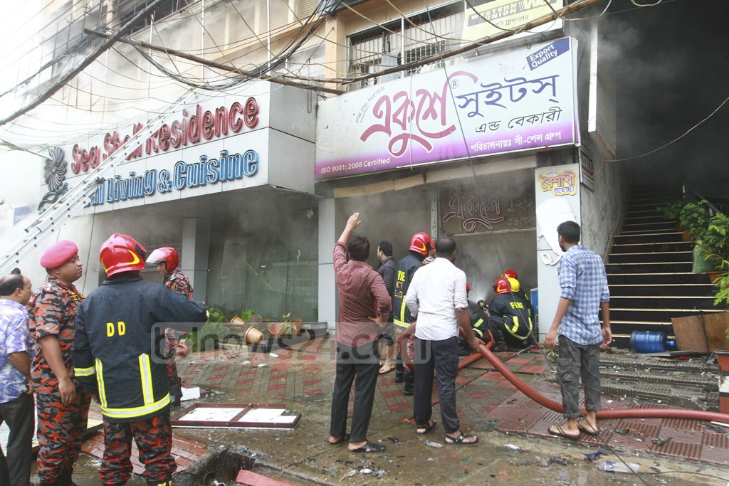 The fire service is yet to confirm the cause of the fire and the extent of the damage. Photo: tanvir ahammed