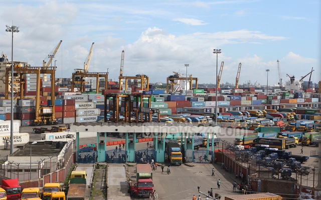 General view of Bangladesh's main sea port in Chittagong. File photo