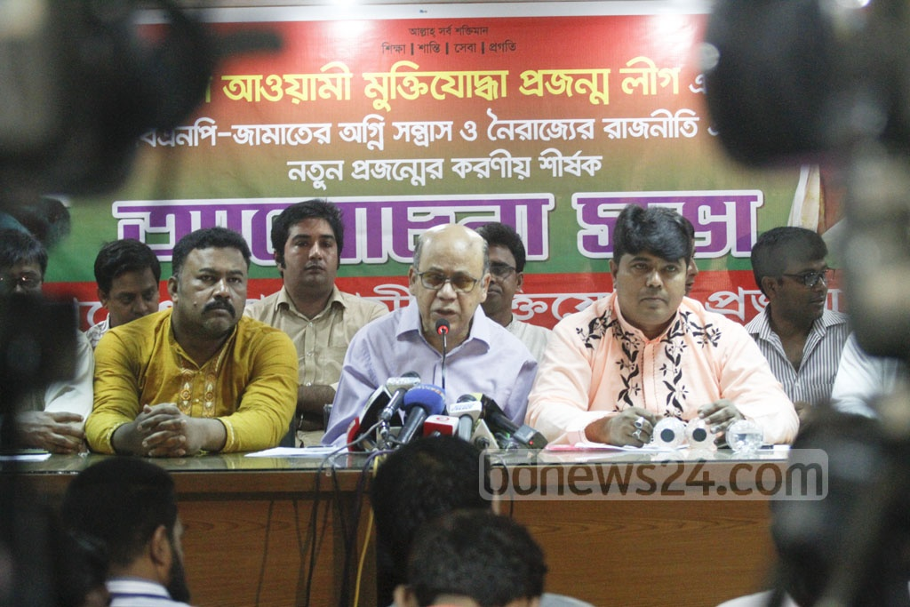 Food Minister Quamrul Islam speaks at a discussion at Dhaka Reporters' Unity auditorium on Wednesday.