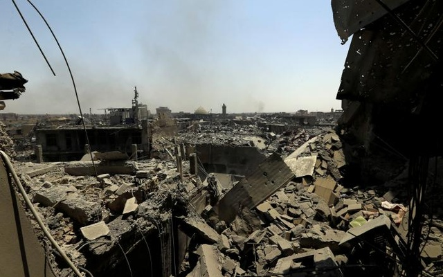 Destroyed buildings from clashes are seen in the Old City of Mosul, Iraq July 10, 2017. Reuters