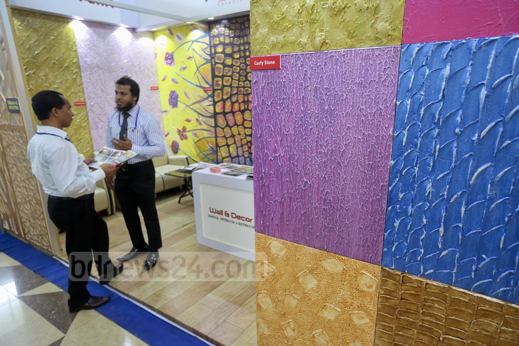Visitors at a stall in an expo on interior design, home decor and furniture on Thursday at the Bashundhara International Convention Centre in Dhaka. Photo: asaduzzaman pramanik