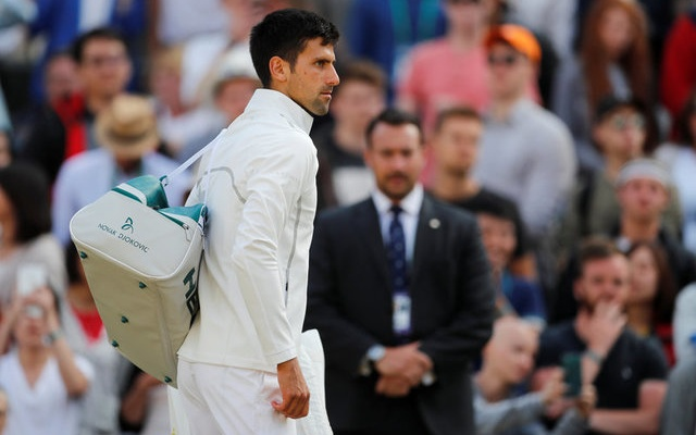 Tennis - Wimbledon - London, Britain - July 12, 2017 Serbia's Novak Djokovic after he retires from his quarter final match against Czech Republic's Tomas Berdych with an injury REUTERS/Matthew Childs