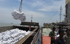 The second shipment of rice from Vietnam arrived at the Chittagong port on Monday. Photo: suman babu