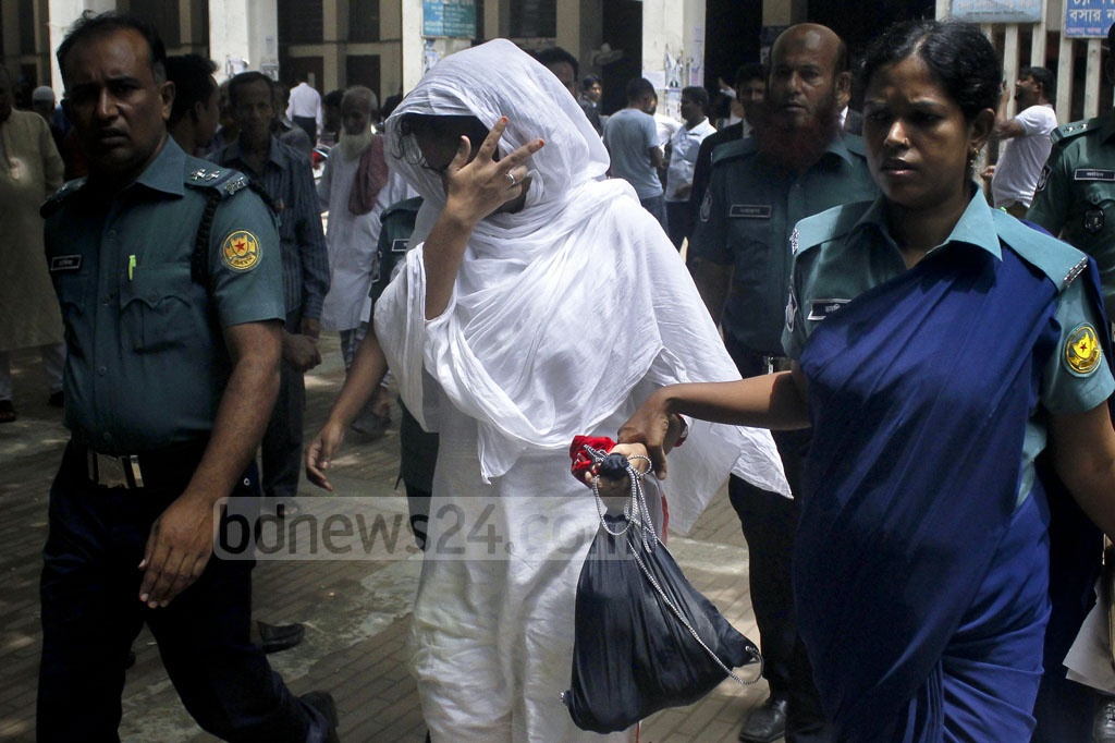 A Dhaka court on Tuesday sentenced Mirpur housewife Naorin Jahan Nodi to life in prison for brutally abusing her minor house help Aduri four years ago.